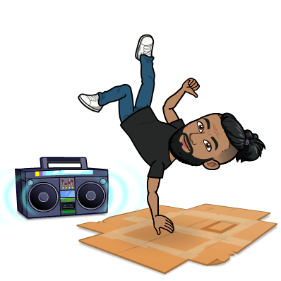 doing a breakdance move called the freeze with boombox in background