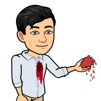 giving bloody heart